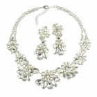 Parisienne Bloom Lite Set ~ Crystal White ~ Silver Plated