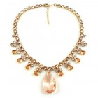 Emikos Necklace ~ Rose Apricot