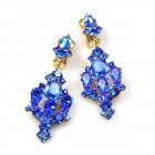 Fatal Kiss Earrings Clips-on ~ Blue