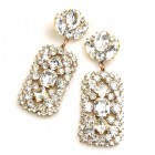 Zara Pierced Earrings ~ Clear Crystal