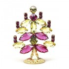 Xmas Tree Standing Decoration ~ Fuchsia Yellow