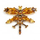 Dragonfly Large Brooch ~ Topaz
