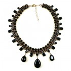 Raindrops Necklace ~ Black