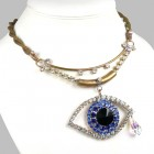 Blue Eye ~ Wonderful Rhinestone Necklace