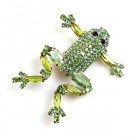 Froglet Pin ~ Peridot Green