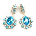 Infinite Dream Earrings Pierced ~ Aqua