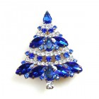 Xmas Tree Brooch #09 ~ Blue