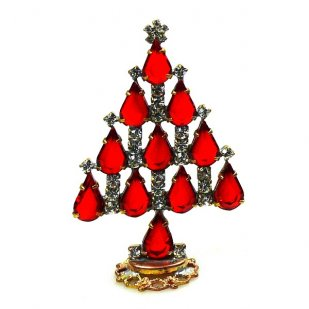 Xmas Tree Standing Decoration 2019 #17 ~ Red