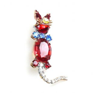 Cat Small Pin ~ Red