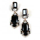 Pearlesque Earrings Pierced ~ Opaque Black