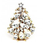 3 Dimensional Medium Xmas Tree Decoration ~ Clear Crystal