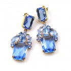 Emilee Earrings Pierced ~ Light Sapphire