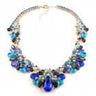 Walla Walla Necklace ~ Blue Aqua Purple