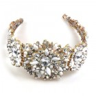 Empress Headband Tiara ~ Clear Crystal with Opaque White