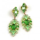 Fatal Passion Earrings Pierced ~ Peridot Green