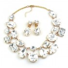 Dainty Delights Necklace with Earrings ~ Clear Crystal