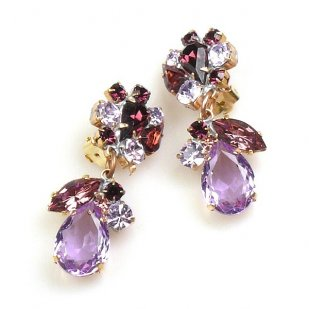 Fascinate Earrings Clips ~ Violet