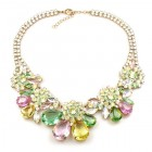 Parisienne Bloom Necklace ~ Pastel Tones