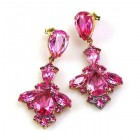 Savannah Earrings Pierced ~ Fuchsia