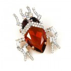Creepy-Crawly Pin ~ Amber Topaz