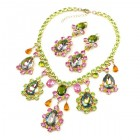 Heritage of History Set with Earrings ~ Vitrail Multicolor