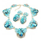 Iris Necklace Set ~ Extra Aqua Grey