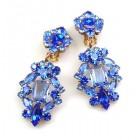 Fatal Passion Earrings Clips-on ~ Blue