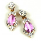 Grand Mythique Clips-on Earrings ~ Crystal Extra Pink
