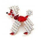 Poodle Pin ~ Red Crystal