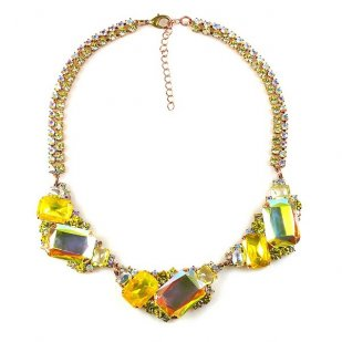 Mozaic Necklace ~ Sunshine Yellow