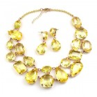 Dainty Delights Necklace with Earrings ~ Yellow Jonquil