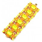 Neon Bracelet ~ Yellow Orange
