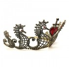 Sea Horses Tiara ~ Black with Red Heart ~ Special Request