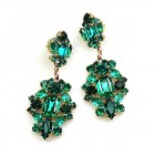 Fatal Passion Earrings Pierced ~ Emerald