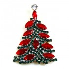 Xmas Navette Tree Brooch ~ #5