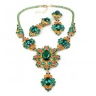 Aztec Sun Set ~ Emerald with Topaz