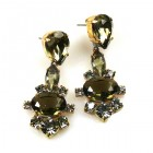 Marlene Earrings Pierced ~ Smoke Crystal