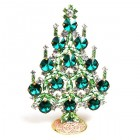 Rivoli Xmas Stand-up Tree 13cm ~ Emerald Green Clear