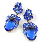Fiore Pierced Earrings ~ Blue