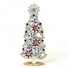 Xmas Tree with Flowers Decoration 18cm