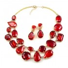 Dainty Delights Necklace with Earrings ~ Red