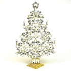 2020 Xmas Tree Decoration 22cm ~ Clear Crystal