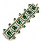 Crystaline Bracelet ~ Wide ~ Crystal Green Emerald
