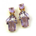 Emilee Earrings Clips ~ Violet