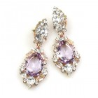 Grand Mythique Earrings for Pierced Ears ~ Crystal Violet