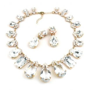 Effervescence Necklace Set ~ Clear Crystal