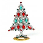 Xmas Tree Standing Decoration 2018 #10 Clear Emerald Red