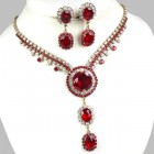Natalie Set ~ Crystal with Red