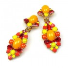 Wild Orange ~ Clips Earrings