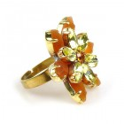Sensual Desire Ring ~ Opaque Topaz with Yellow